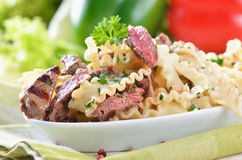 Italian noodles with fillet Royalty Free Stock Photo