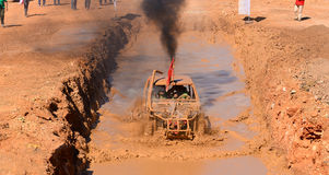 Italian off-road track.Off-road vehicle and dirt track Royalty Free Stock Images