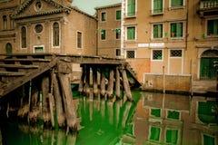 Italian old bridge Stock Images