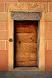 Italian old front door in Camogli Royalty Free Stock Images