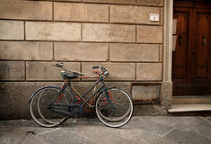 Italian Old-style Bicycles In Lucca, Tuscany Royalty Free Stock Image