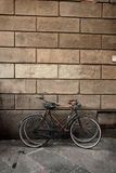 Italian old-style bicycles in Lucca, Tuscany Stock Images