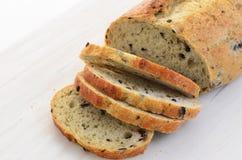 Italian olive bread Stock Image