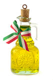 Italian olive oil in glass bottle isolated Stock Photography