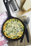 Italian Omelet Frittata Royalty Free Stock Photos