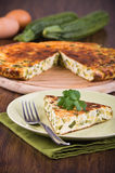 Italian omelette with zucchini. Royalty Free Stock Photography