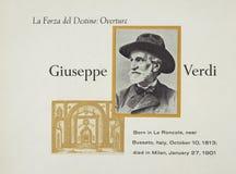 Italian opera composer Giuseppe Verdi stock images