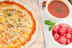 Italian original thin crust pizza Stock Image