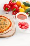 Italian original thin crust pizza Stock Photography