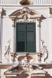 Italian ornate window Royalty Free Stock Image