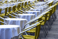 Italian outdoor cafe Stock Photo