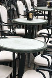 Italian outdoor cafe - the tables Stock Photo