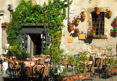 Italian outdoor cafe and wine bar