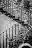 Italian outdoor stairway Royalty Free Stock Images