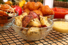 Italian Oven Baked Potatoes Stock Photo