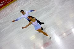 Italian overall 2009 Figure Skating Championships Stock Photos
