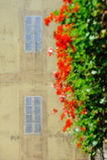 Italian painted false window on house Stock Images