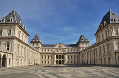 Italian palazzo, Turin in clear day Royalty Free Stock Photography