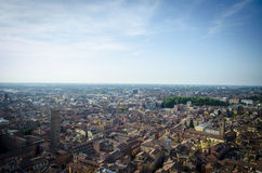 Italian Panaoramic City. An extended view of an Italian city going as far as the eye can see Royalty Free Stock Photo