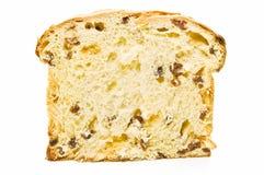 Italian panetone slice Stock Photography