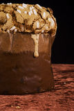 Italian Panettone cake Royalty Free Stock Photos