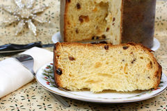 Italian Panettone Cake Royalty Free Stock Photography