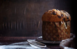 Italian panettone cake Stock Photography