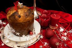 Italian Panettone For Christmas Stock Photo