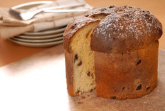 Italian Panettone Christmas Bread Stock Photos