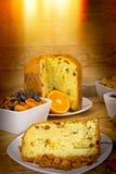 Italian panettone - Christmas cake Royalty Free Stock Photos