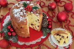 Italian Panettone Christmas Cake Stock Image