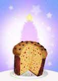 Italian panettone at Christmas Royalty Free Stock Image