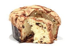 Italian panettone with icing Stock Photography