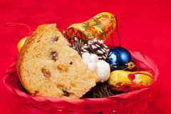 Italian panettone Royalty Free Stock Images