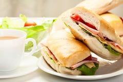 Italian panini sandwich Stock Images