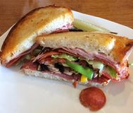 Grilled Italian Panini Sandwich stock photos
