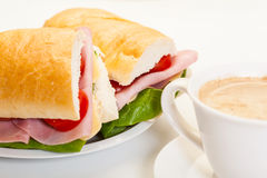 Italian panini sandwich Stock Image