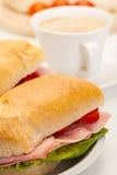 Italian panini sandwich Stock Photography