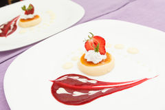Italian panna cotta Stock Photos
