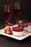 Italian panna cotta dessert Royalty Free Stock Images