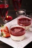 Italian panna cotta dessert Stock Photo