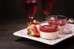 Italian panna cotta dessert Stock Image