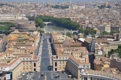Italian panorama street view Stock Photography