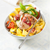 Italian pappardelle egg noodles royalty free stock images