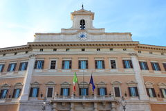 The Italian Parliament. In Montecitorio Square - Rome (Italy royalty free stock photo