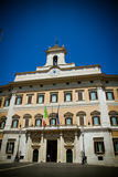 The Italian Parliament stock images