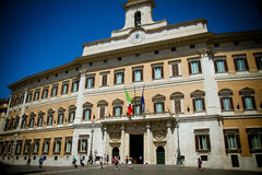 The Italian Parliament. In Montecitorio Square, Rome, Italy Stock Images