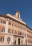 Italian Parliament, Rome. Palazzo Montecitorio, seat of the Italian Chamber of Deputies, Rome, Italy royalty free stock photo
