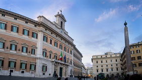 The Italian parliament in Rome Royalty Free Stock Photo