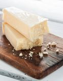 Italian Parmesan piece Stock Photo